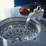 cini desenli klasik tarz lavabo modeli