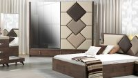 Yeni Moda Çizgi Mobilya Yatak Odası Modelleri 2015