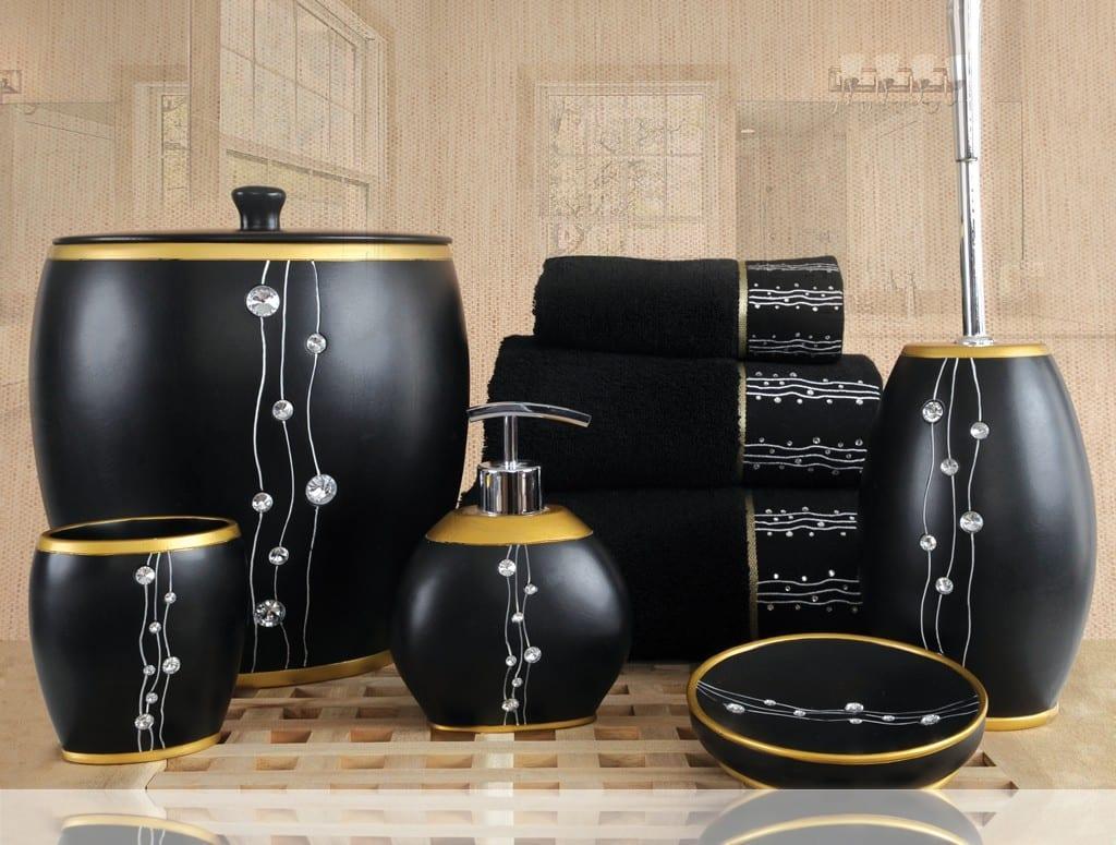 crystal banyo aksesuarlari siyah