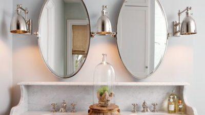 Dekoratif Yeni Moda Banyo Aynası Modelleri