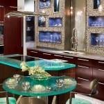 dekoratif cam mutfak tezgahi