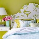 dekoratif desenli yatak basi modelleri