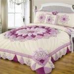 dekoratif patchwork yatak ortuleri