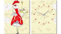 En Güzel Kanvas Tablo Duvar Saati Modelleri 2015