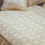 en guzel el yapımı dantel yatak ortusu