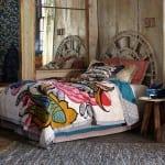en guzel etnik desenli yatak ortuleri