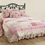 english home rose patchwork yatak ortusu