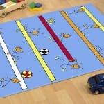 Rengarenk eğlenceli çocuk odası halı modelleri 2015