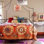 etnik desenli yatak ortusu modelleri