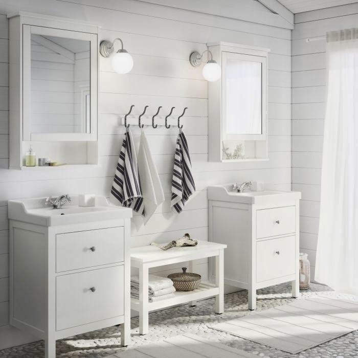 ikea beyaz banyo dolaplari