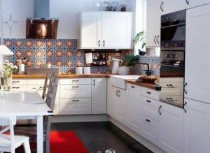 ikea beyaz mutfak