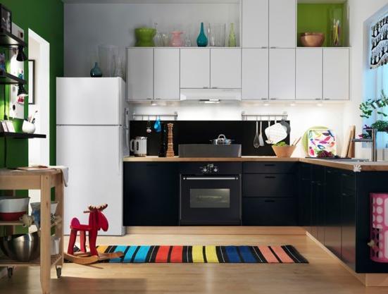 ikea siyah mutfak dolabi modelleri