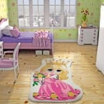 kiz cocuk odası princess desenli hali