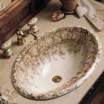 klasik banyo lavabo modelleri