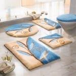 mavi desenli banyo hali modeli
