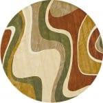 modern desenli yuvarlak halilar