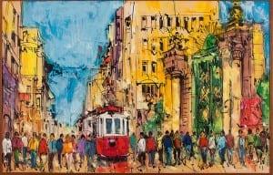 modern yagli boya tablo