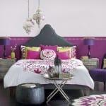 otantik desenli renkli yatak ortuleri