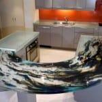 oval desenli cam mutfak tezgah modeli