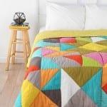patchwork modelleri renkli yatak ortusu