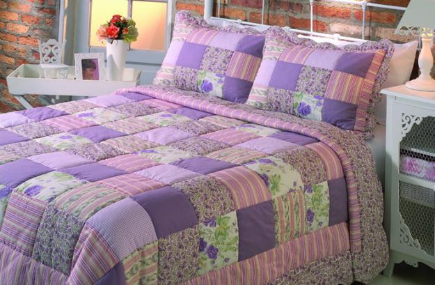 Одеяла и покрывала пэчворк