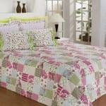 patchwork yatak ortusu