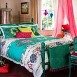 renkli etnik yatak ortusu modelleri