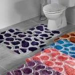renkli tas desenli banyo halilari