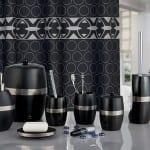 siyah modern banyo seti