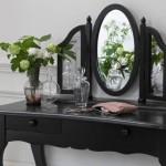 siyah modern makyaj masasi