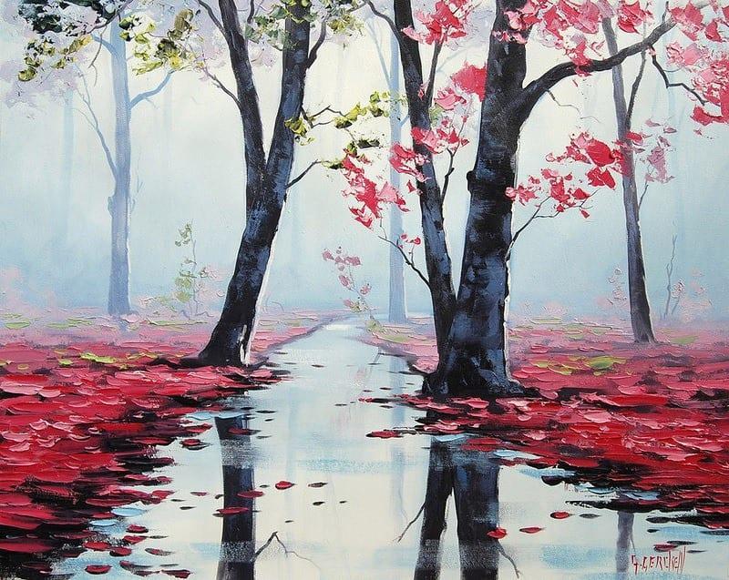 yagli boya manzara resimleri