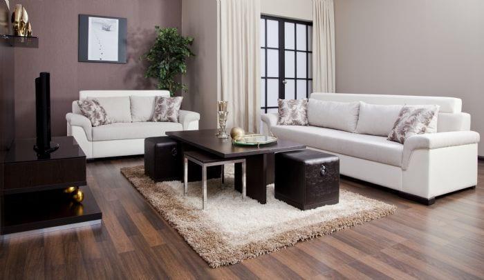 Yatas Beyaz Modern Oturma Grubu Dekorstyle