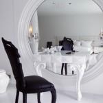 yeni moda beyaz modern makyaj masasi