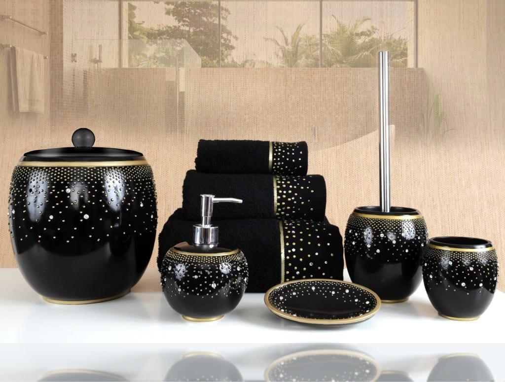 yeni moda space banyo aksesuarlari siyah