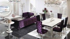 zebrano klasik yemek odasi