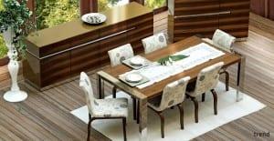 zebrano mobilya trend yemek odasi
