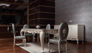 zebrano muhtesem yemek odasi modelleri