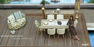 zebrano pepe yemek odasi