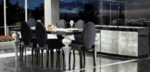 zebranogumus siyah yemek odasi