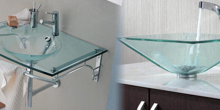 Banyolarda Tarz Yaratan Modern Cam Lavabolar 2015