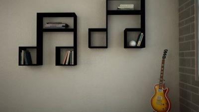 Duvarlar İçin Rengarenk Dekoratif Raf Modelleri