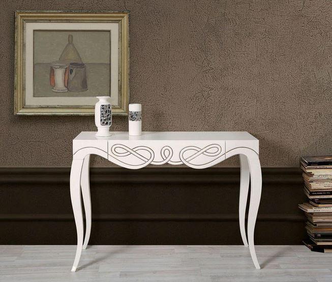 Beyaz Modern Dresuar Modeli