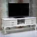 Klasik tarz beyaz televizyon sehpasi