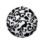 Siyah Beyaz desenli Aplik