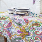 Zara-Home Rengarenk- desenli masa ortuleri