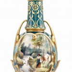 antika porselen vazo