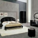 avangarde siyah yatak odasi