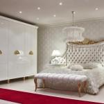 beyaz varak ayakli avangarde yatak odasi modeli