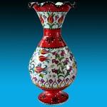 cini desenli dekoratif vazo