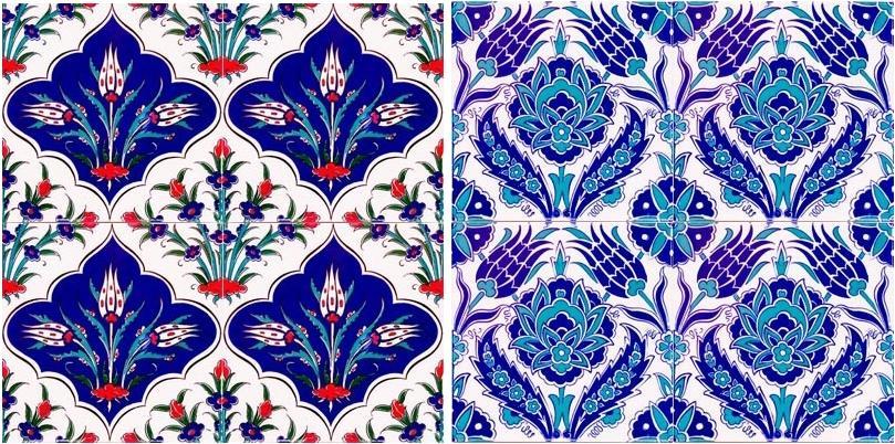 dekoratif cini desenli karolar